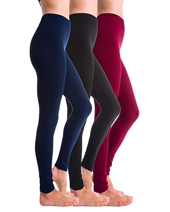Homma 3-Pack Brushed Fleece Lined Thick Leggings